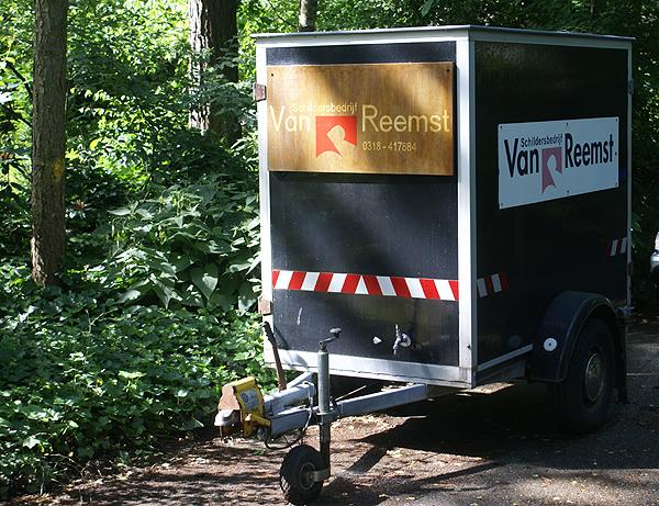 Aanhanger schildersbedrijf Van Reemst