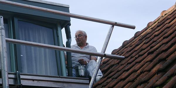 Van Reemst schildert dakkapel bungalow
