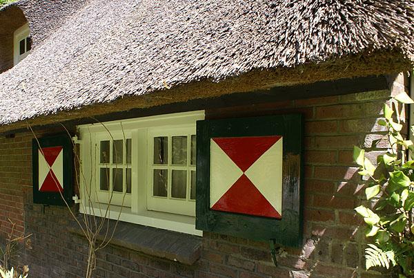 Gelders landhuis, geschilderd door Van Reemst in Bennekom
