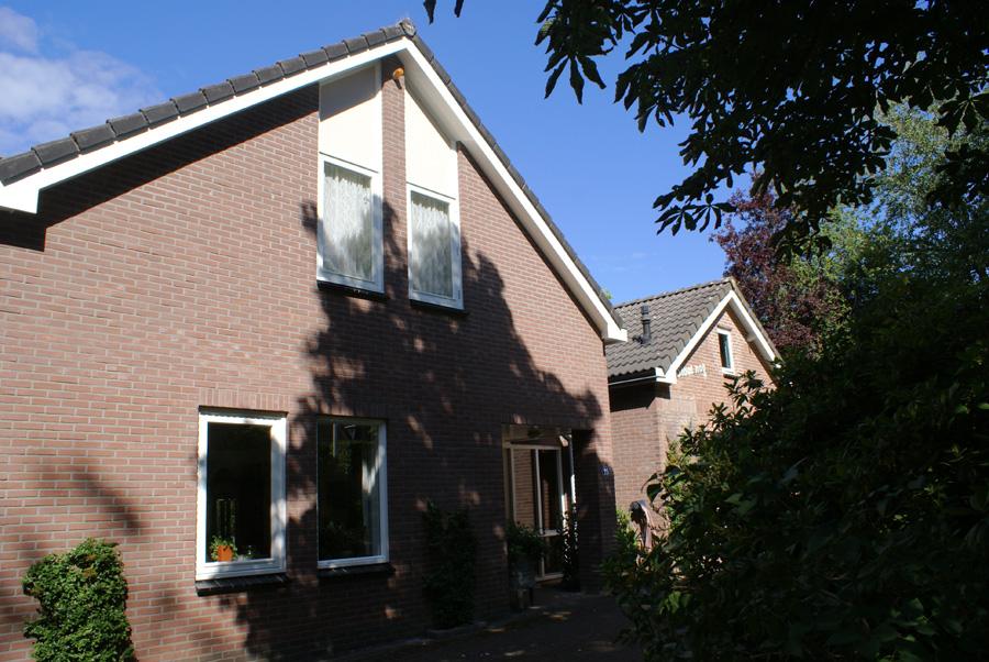 Dubbel woonhuis schilderen door schildersbedrijf van Reemst.